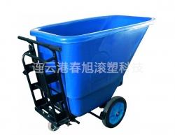 Rotational tilting bucket car